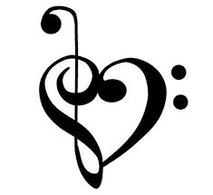Amazon Com Bass And Treble Clef Heart Decal Sticker Automotive