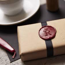 personalised crown monogram wax seal stamp