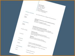 6 Lebenslauf Franz Sisch Resignation Format