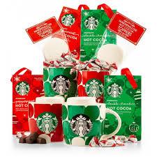 coffee tea gift baskets starbucks hot cocoa mugs gift set