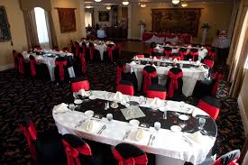 Wedding Decor Red Black And White