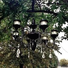 outdoor chandelier solar diy