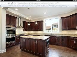 beautiful dark cabinets light design ideas countertops oak with granite burdy in kitchen post