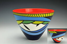 Pamela Summers, Bowl Red Center, 2019   Artspace111 Texas Juried Exhibition    ArtSpace111