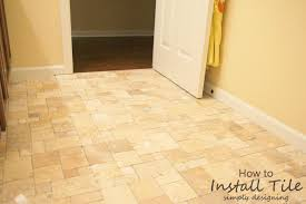 Travertine Tile Installed Without Grout   A Complete Tutorial For How To  Demo, Prep,