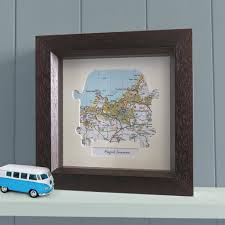 wall art personalised framed camper van map on personalised framed wall art uk with personalised camper van map unique gifts butler and hill uk