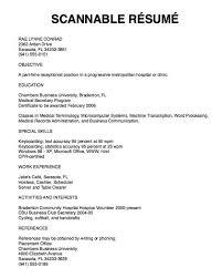 Scannable Resume Template Gfyork Com