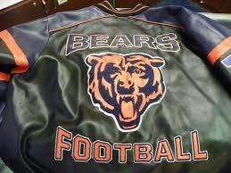 lot 23 2 pc jacket lot nfl chicago bears leather jacket sz lg