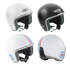 Details About Gsb Open Face Scooter Helmet Mod Retro Style For Vespa Lambretta Scooters