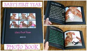 baby s first year photo book a special first birthday gift for your child harvard homemaker