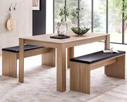 Finebuy Esszimmer Set Fb51797 Sonoma Eiche Esstisch Mit 2 Bänken Holz Modern Essgruppe Tischgruppe Küche Klein Esszimmergarnitur Sitzgruppe