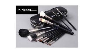get ations mac 12 pcs professional cosmetic makeup brushes set with pu leather cover