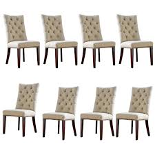 Tufted Dining Room Sets Dining Room Design Pretty White Tufted Parsons Chairs With Black