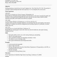 Resume Truck Driver Position Truck Driver Resume Templates Lovely Resume Truck Driver Position