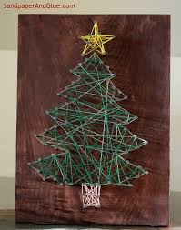 diy string art - easy and quick holiday gift