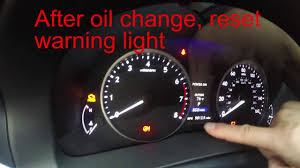 reset maintenance required light lexus es350 2016