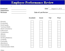 Construction Employee Review Template Weekly Performance Review Template