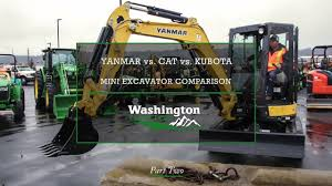 Yanmar Vio35 Vs Kubota U35 Vs Cat 303 5 Mini Excavator Comparison Part 2 By Washington Tractor