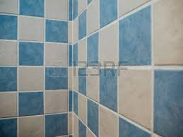 Blue And White Decorative Tiles Decorative Tiles In White And Blue Bathroom Geometric Design Stock 74