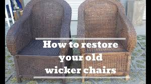 how to re wicker chairs make