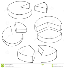 Vector Set Of Pie Chart Stock Vector Illustration Of Cute