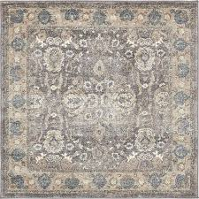 unique loom salzburg gray 4 x 4 square rug