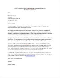 Cover Letter For Internship Sample Internship Cover Letter Sample