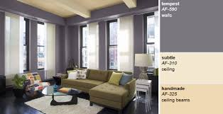 Interior Purple Living Room Color by Benjamin Moore