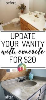 diy home improvement on a budget diy vanity concrete overlay easy and do