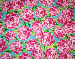 lilly pulitzer fabric for sale. Simple Pulitzer Fabric Traditions Rose Hot Pink 1 Yard First Impressions Lilly  Pulitzer INSPIRED Style Intended For Sale P