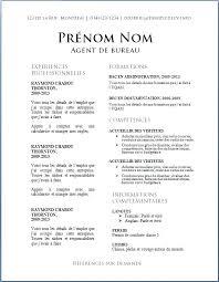 Modele Simple Cv De Travail Word Cvs Minute Clinic Elmesa Info