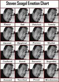Steven Seagal Emotion Chart Poster Seagal Emotion Chart Funny Pictures Funny Images Best