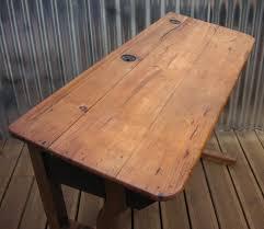 vintage retro school desk table