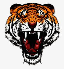 tattoo tiger angry orange open mouth tiger face png hd transpa png 8756172