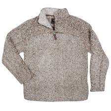 True Grit Mens Frosty Tipped Pile 1 4 Zip Pullover