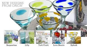 handblown mexican glassware from orion s table