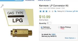 kenmore lp conversion kit. appliances lpg converter sears kenmore. because it involves gas and stuff kenmore lp conversion kit