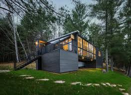 Small Picture Modern Prefab Cabin in Quebec Uses Innovative Wood Panels