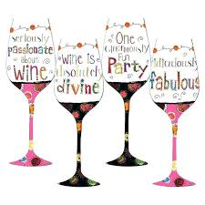 decorated wine glasses for birthday google search painted birthdays