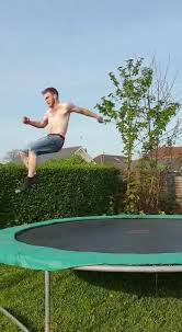 guy trying a standing double backflip