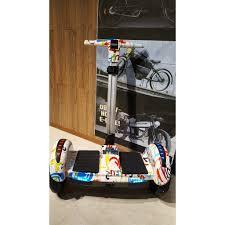 Xe Điện Cân Bằng Có Nhạc Bluetooth 10 Inch-Màu Trắng Hoa Văn giá cạnh tranh