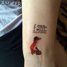 водонепроницаемый временные татуировки наклейки лошадь лиса волк