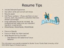 Resume verb tense