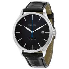 ebel classic 100 automatic black dial black leather men s watch ebel classic 100 automatic black dial black leather men s watch 1216089