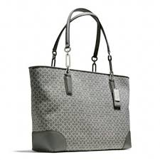 Coach Silver Madison Eastwest Tote