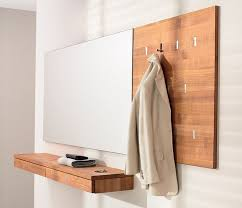 wall panel with coat rack with flush