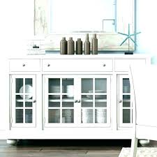 kitchen buffet cabinet creative sideboards and buffets white remarkable throughout with glass doors