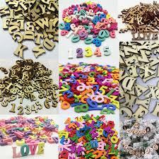 details about 200x embellishments letters number wooden alphabet sbooking cardmaking craft