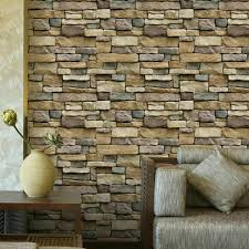 10mx45cm 3d stone brick wallpaper