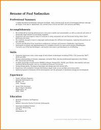 Resume Summary Examples Sample Resume Summary Teller Resume Sample 16